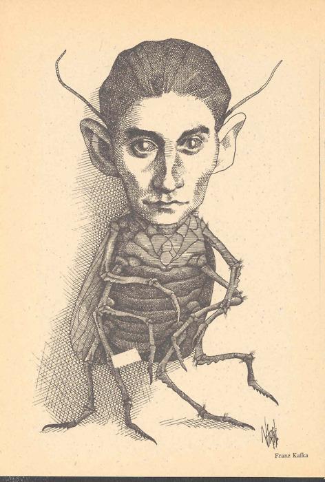 Franz Kafka, si no conocen a este escritor (no todas las escuelas exigen su lectura) solo sepan que fue un judío que laburaba en la burocracia, ... - franz-kafka-escarabajo